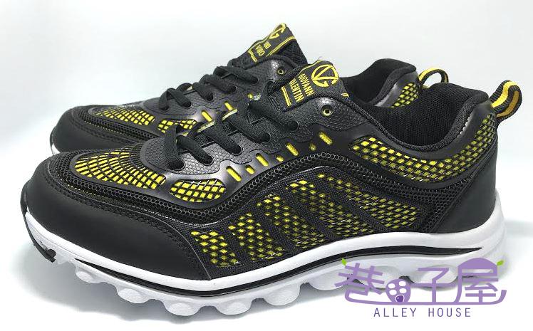 【巷子屋】吉梵尼范侖鐵諾 男款寬楦超輕量運動跑鞋 [6033] 黑藍 超值價$398
