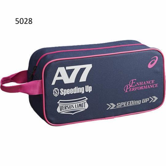 [陽光樂活=] ASICS 亞瑟士 A77鞋袋 運動 手提包 EBA509-5028 丈青x桃紅