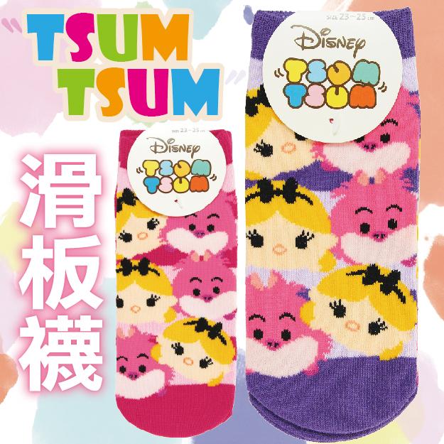 【沙克思】TSUM TSUM 愛麗絲柴郡貓童滑板襪  特性:舒適棉混編織+可愛TSUM造型 (Line Disney PIXAR 迪士尼 皮克斯 愛麗絲夢遊仙境 Alice Cheshire Cat 襪子 童襪 女襪 童短襪 女短襪)