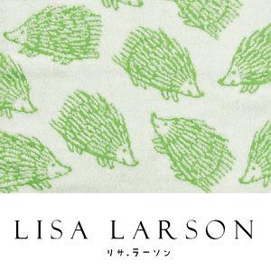 【沙克思】Lisa Larson 滿佈刺蝟正方巾 特性:100%純棉無撚系編製+兩面色調+日本今治級認證 (毛巾 方巾 洗臉巾)