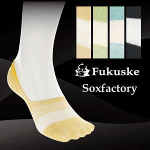 【沙克思】Soxfactory腳背色槓麻混男隱形襪 特性:棉麻混編織+足弓加強+後跟附止滑+Y字後跟 (Fukuske 襪子 男襪 船型襪)