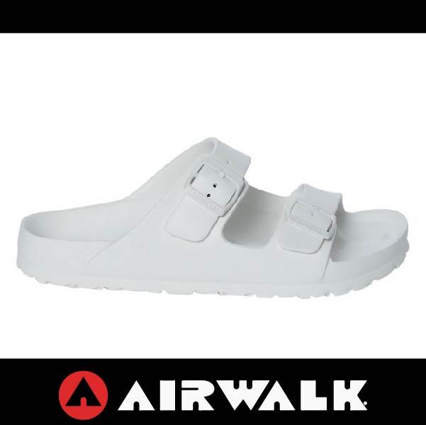 萬特戶外運動-AIRWALK A535220100 美國運動流行 台灣製造 雙扣環拖鞋 EVA 運動拖鞋 勃肯鞋款BIRKENSTOCK 全白