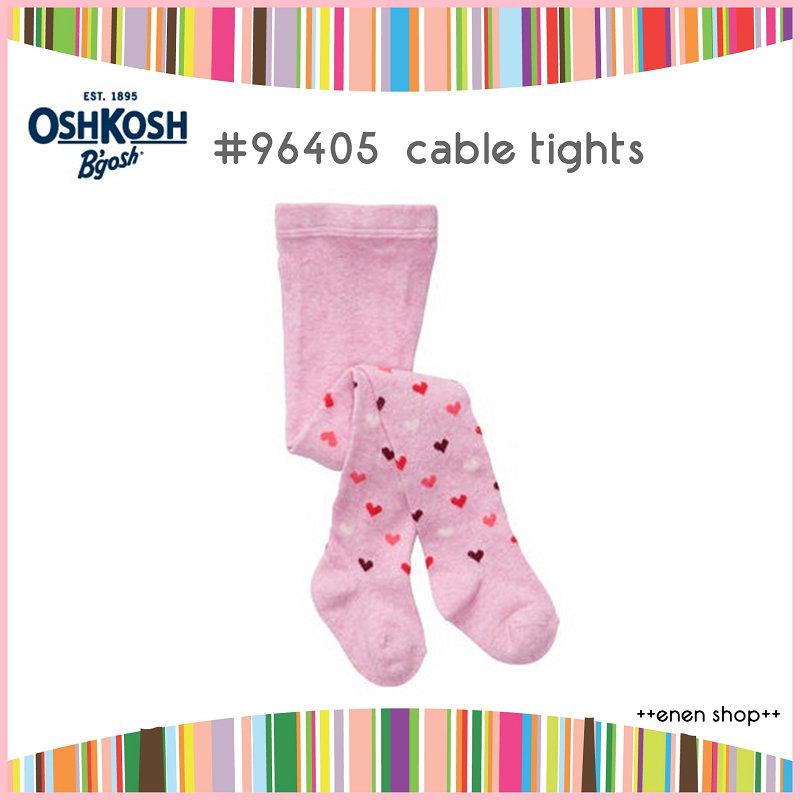 Enen Shop @OshKosh B'gosh 粉色愛心保暖針織褲襪  ∥ 12M-24M  **零碼出清**