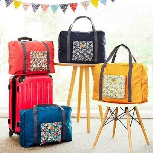 PS Mall 新款可折疊旅行收納包購物單肩包行李箱包拉桿箱收納袋【J1622】
