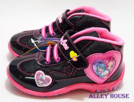 【巷子屋】光之美少女 甜蜜天使 女童愛心高統運動休閒鞋 [28420] 黑粉 MIT台灣製造 SGS合格 超值價$198