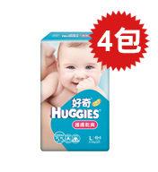 【悅兒樂婦幼用品舘】HUGGIES 金好奇 護膚乾爽pH5.5紙尿褲(L)46+4片x4包入