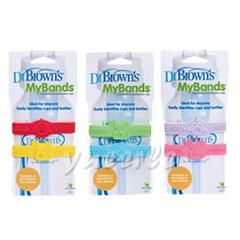 【悅兒樂婦幼用品舘】Dr Brown's美國布朗博士 奶瓶訓練杯名稱套環(2入)