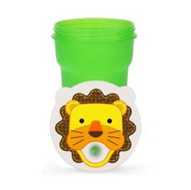 【悅兒樂婦幼用品舘】愛迪生EDISON 可愛動物吸管防漏水杯-300ml (獅子)