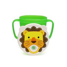 【悅兒樂婦幼用品舘】愛迪生EDISON 可愛動物防漏吸管握把水杯-250ml (獅子)