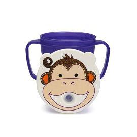 【悅兒樂婦幼用品舘】愛迪生EDISON 可愛動物防漏吸管握把水杯-250ml (猴子)