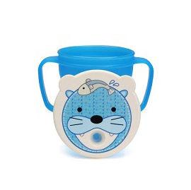 【悅兒樂婦幼用品舘】愛迪生EDISON 可愛動物防漏吸管握把水杯-250ml (海獅)