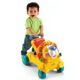 【悅兒樂婦幼用品舘】Fisher-Price 費雪 兩用獅子聲光踏步車