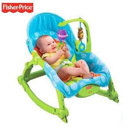 【悅兒園婦幼生活舘】Fisher-Price 費雪 可愛動物可攜式兩用安撫躺椅(公司貨)