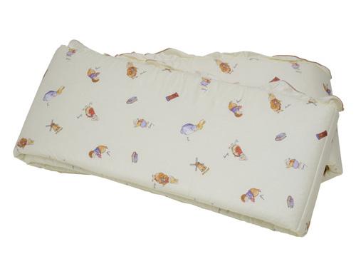 【悅兒樂婦幼用品舘】FoxwoodTales狐狸村傳奇 高級精梳棉床護圈 (一般中床適用)-米色
