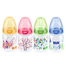 【悅兒樂婦幼用品舘】NUK 寬口徑PP奶瓶(150ml)-附寬口徑矽膠奶嘴1號中圓洞