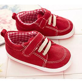 【悅兒園婦幼生活館】NikoKids 磨砂底學步鞋 SG-185 紅色絨布 (無鞋盒)