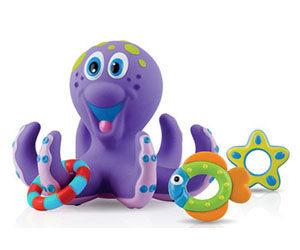 【悅兒樂婦幼用品舘】Nuby 洗澡玩具-小章魚圈圈樂