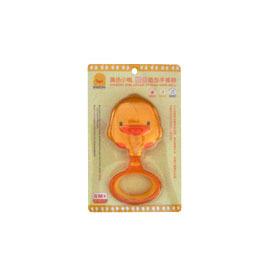 【悅兒樂婦幼用品舘】Piyo 黃色小鴨 雙色造型手搖鈴