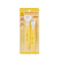 【悅兒樂婦幼用品舘】Piyo 黃色小鴨 雙色離乳安全湯匙組( 2入)