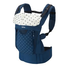 【悅兒樂婦幼用品舘】Aprica 愛普力卡 COLAN BIGI 新生兒腰帶型四方向四用途揹巾-星海藍