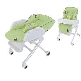 【悅兒樂婦幼用品舘】Aprica Nemyu STD 569高低可調式餐椅搖床-抹茶綠【送超柔濕巾80抽×3包】