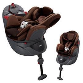 【悅兒樂婦幼用品舘】Aprica 愛普力卡 Fladea DX 729 平躺型嬰幼兒汽車安全臥床椅-布朗棕
