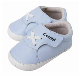 【悅兒樂婦幼用品舘】Combi 康貝 優雅風寶寶鞋-藍