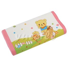 【悅兒樂婦幼用品舘】Combi 康貝 Kuma Kun科技乳膠嬰兒枕頭(粉色)