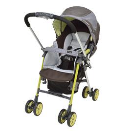 【悅兒樂婦幼用品舘】Combi 康貝 Ampio 雙向型可平躺雙折式嬰幼兒手推車-馬爾他綠