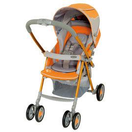 【悅兒樂婦幼用品舘】Combi 康貝Urban Walker UR-350R Sporty 歐風城市休旅雙向手推車-活力橘