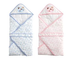 【悅兒樂婦幼用品舘】Combi 康貝 蝴蝶結熊-包巾