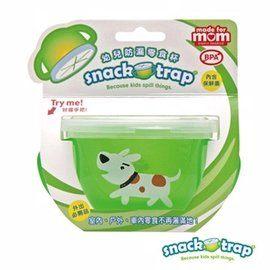 【悅兒樂婦幼用品舘】美國 Snack-Trap 幼兒防漏零食杯(附上蓋) -白狗