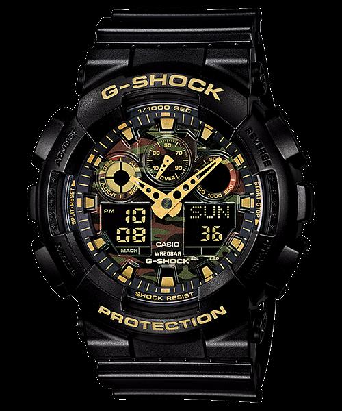 國外代購 CASIO G-SHOCK GA-100CM-4A 叢林迷彩 防水 手錶 腕錶 電子錶 男女錶 迷彩黑