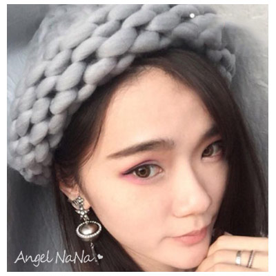 毛帽。手工粗針織 麻花 捲邊 女漁夫帽 毛線帽子(9色)【HA0004】AngelNaNa