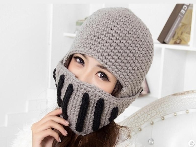 《316小舖》【YB09】(韓版時尚冬季新款騎士保暖口罩帽子-單件價 /男女口罩帽子/騎士帽子/情侶帽子/情人帽子)