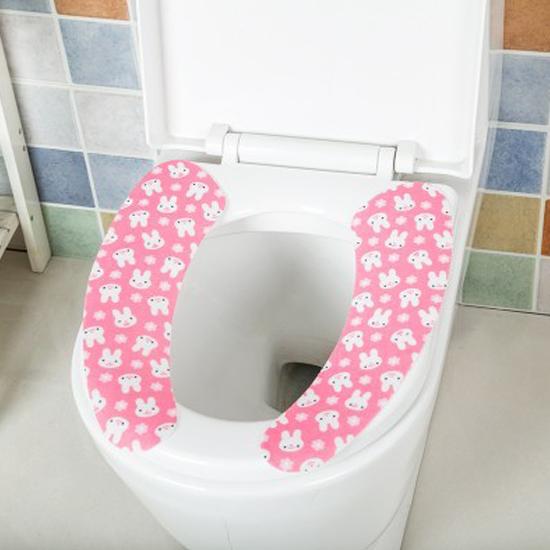 ♚MY COLOR♚印花卡通馬桶貼墊 剪裁 廁所 衛浴 保暖 坐墊 浴室 水洗 圖案 易乾 衛生【F40】