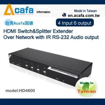 *╯新風尚潮流╭*PANIO 4進6出 HD 影音延長器 串接式訊號增強器 台灣製 HD4600