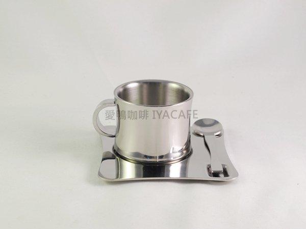 《愛鴨咖啡》歐式不銹鋼咖啡杯盤匙組 創意咖啡杯組90cc