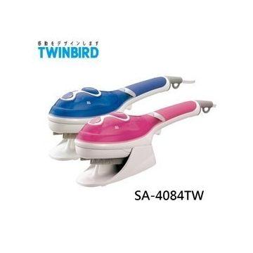 【威利家電】TWINBIRD手持式蒸汽熨斗(粉藍)SA-4084TW