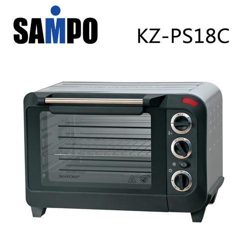 【威利家電】【刷卡分期零利率+免運費】聲寶 18L定時電烤箱 KZ-PS18C