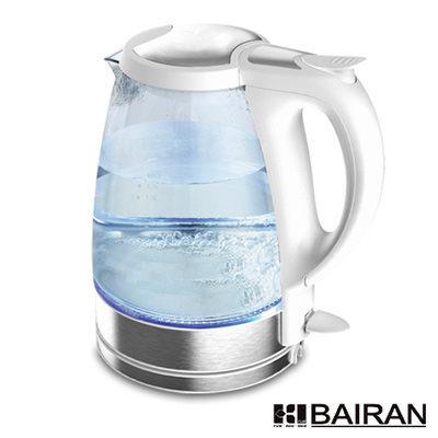 【威利家電】【刷卡分期零利率+免運費】白朗玻璃炫彩電茶壺FBCK-B09 360度壺身任意放置