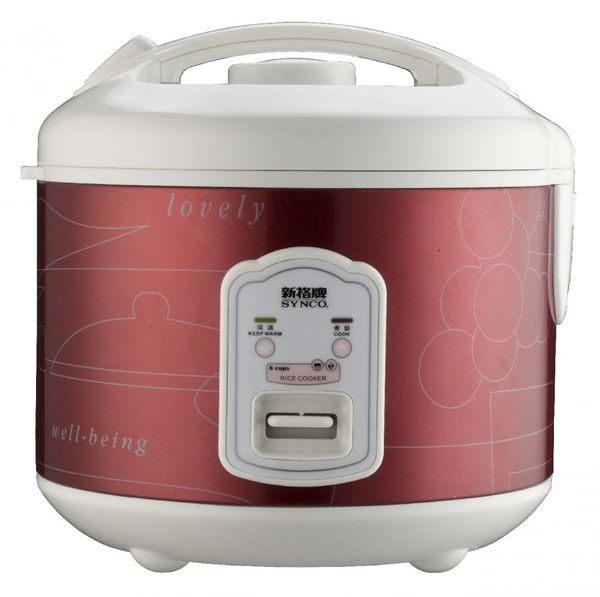 【威利家電】【刷卡分期零利率+免運費】新格 6人份電子鍋SR-2011