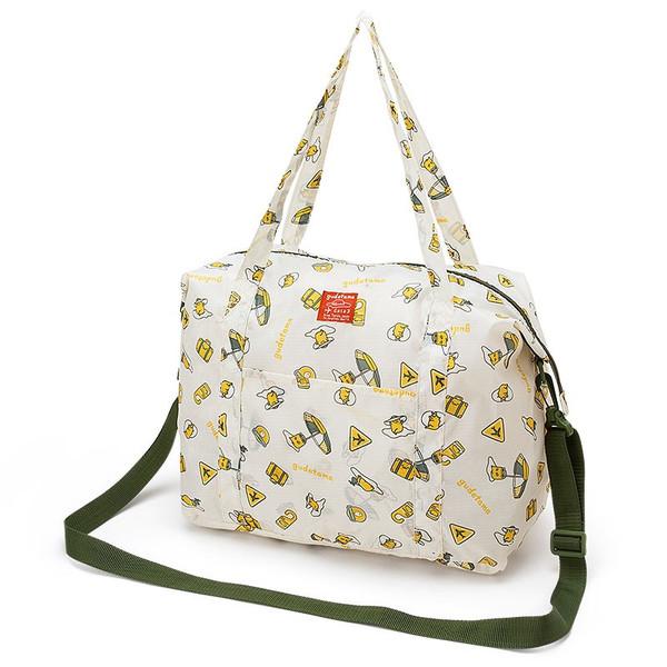 【真愛日本】16061600038可收納旅行袋M-GU渡假     三麗鷗家族 蛋黃哥 Gudetama  旅行袋 收納袋