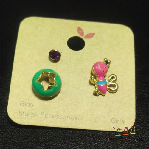 飾品耳環手鍊-可愛小小耳環-粉紅蜜蜂