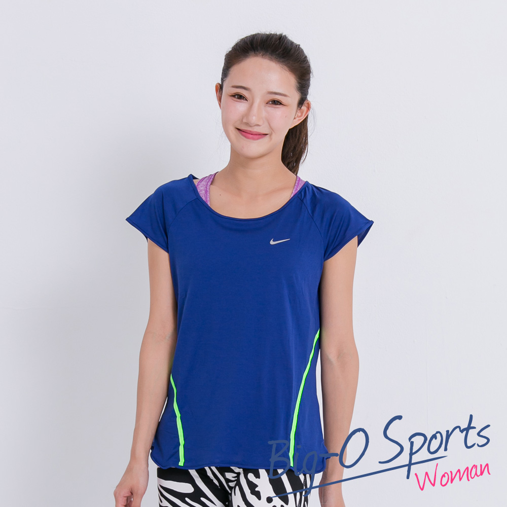 NIKE 耐吉 RUN FREE FRAMED SHORT SLEEVE  路跑 跑步上衣 女 719476455 Big-O SPORTS