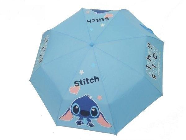 Disney 迪士尼 兒童傘/晴雨傘/手開傘/手開三折傘 史迪奇 *夏日微風*