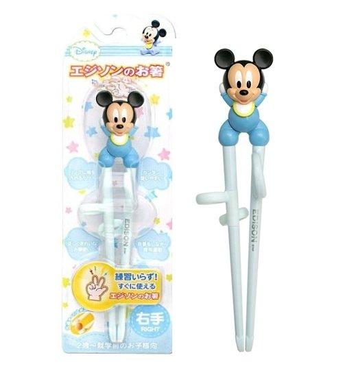 日本 Edison Disney系列 兒童學習筷 米奇 右手用 *夏日微風*