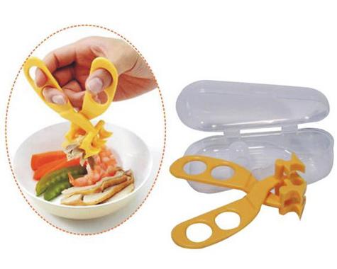 日本 GINO 食物剪/副食品剪/壓泥器/食物夾 附外出攜帶盒 日本製*夏日微風*