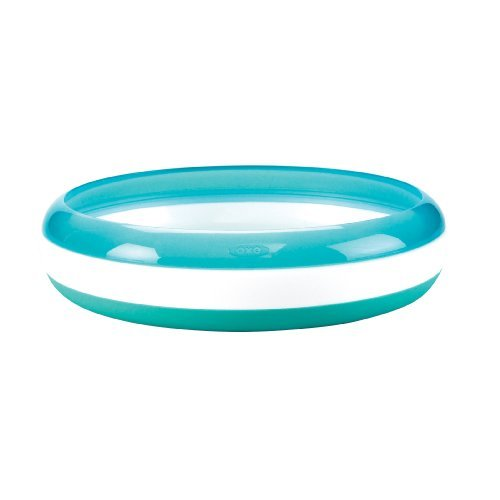 美國 OXO 幼兒餵食防滑餐盤 訓練碟(食物逃不出幼兒安全餐盤) 藍色 *夏日微風*