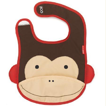 美國 SKIP HOP Zoo Bib 寶寶動物圍兜 小猴子 原廠正品 *夏日微風*